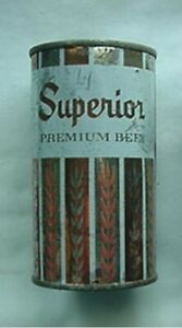 SUPERIOR BEER CAN (1950s-60s STEEL PUNCH-TOP) SUPERIOR BREWING CO, CHICAGO