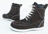 MOTORCYCLE MOTORBIKE SCOOTER XTRM 403 SHORT TOURING CITY URBAN BOOTS  BROWN