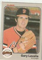 FREE SHIPPING-MINT-1983 Fleer #265 Gary Lavelle  Giants PLUS BONUS CARDS