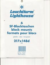.Lighthouse Clear Stamp Mounts - 217mmx148mm 'd' -6 per pkg-new - Free Ship
