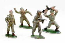 4 figurines QUIRALU soldats américains para