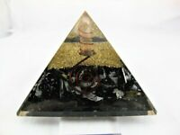 Extra Large LG 70mm Black Orgone Healing Pyramid EMF Protection Feng Shui