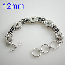 Petite Interchangeable Jewelry 12mm Metal Fits Ginger Snaps Mini Snap Bracelet