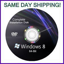 Windows 8 64 bit install reinstall refresh recovery repair DVD Disc Support