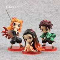 Demon Slayer Kimetsu no Yaiba Kamado Nezuko Kamado Tanjirou Action Figures Set 3