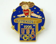 Vintage 1996 Olympikids Pinback Lapel Pin USA Olympics Cabbage Patch Doll