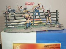 CONTE ACW57112 CONFEDERATE FIGURES + TERRAIN BASE METAL TOY SOLDIER FIGURE SET