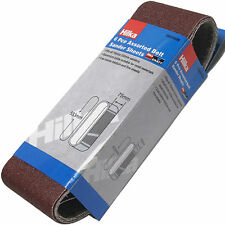 Quality Hilka Sander Belts / Coarse Medium Fine Sanding Belt / Size 533  x 75 mm