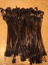 100 x 430mm Heavy Duty Universal Clasp Hangers for plastic pots (Black)
