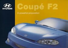 Hyundai Coupe F2 2.0 Limited Edition 1998 UK Market Sales Brochure