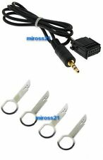 FORD FIESTA 6000 CD AUX IN ADAPTER CABLE 6000CD MP3 iPOD iPHONE iPAD FREE PINS