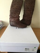 Christian Dior Boots 36,5 Uk 3 Canage, Brown Rare