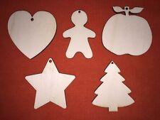 100 pcs CHRISTMAS set n2  plain DESIGN EMBELLISHMENTS WOODEN HANGING CRAFT SHAPE