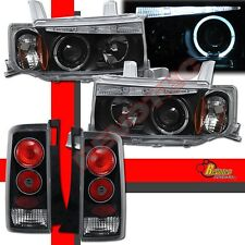 04 05 06 Scion xB Halo Angel Eye LED Projector Headlights & Tail Lights Black