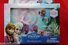 NEW DISNEY FROZEN BEST FRIENDS SET BRACELETS SNAP CLIPS RINGS ANNA ELSA (PZFZACC