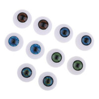 24mm Acrylic Oblate Eyeballs Eyes For Baby Doll BJD Doll Supplies -5Pairs