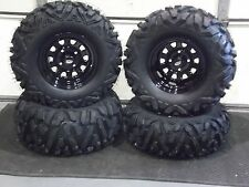 "HONDA RANCHER 420 (SRA) 26""  QUADKING ATV TIRE- ITP BLACK ATV WHEEL KIT BIGGHORN"