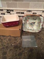 Longaberger 2008 Holiday Helper Basket Combo w / Candy Dish (New)