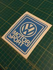 VW Motorsport Sticker Vinyl Decal Window Volkswagen Racing Golf Mk1 Mk2
