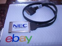 NEC 16 Bit PCMCIA SCSI Interface Card with SCSI-2 Cable P/N 492674-01