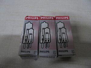 Lot of 3 Philips 7023 Halogen 100-Watt 12-Volt Lamp Light Bulb 100W 12V GY6.35