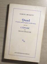 quad et autres pieces pour la television  suivi de l'epuis Samuel Beckett