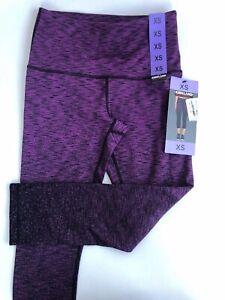 Box1) Kirkland Signature Ladies' Active Crop capri Tight leggings- Purple - XS