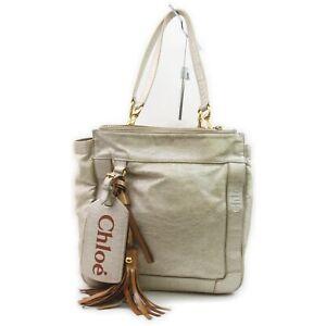 Chloe Shoulder Bag  Gold Leather 1513478