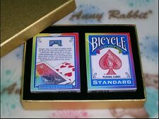 1 SET 2  decks Bicycle Rainbow Deck - Magic Tricks - Playing Cards ~luxury box