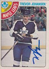 Trevor Johansen Signed 1978-79 O-Pee-Chee OPC Card #320 Toronto Maple Leafs