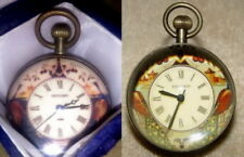 Alte Mechanische Kugelförmig Uhren / Tischuhren / Wanduhr, aus Messing/Glas #107