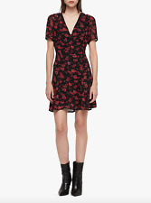 All Saints LUCA EIRA Dress In Coral Red. Size 8 UK