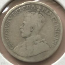 1919 ~ CANADA ~ 10 CENTS ~ GEORGE V ~ G6 Condition