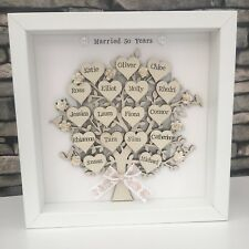 50th Golden Wedding Anniversary personalised Family Tree Grandparents Gift 🎁