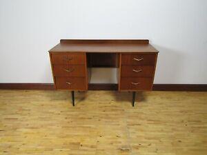 Retro Mid Century Modern Teak Desk 1950s 1960s Vintage