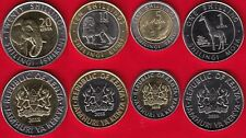 Kenya set of 4 coins: 1 - 20 shillings 2018 UNC