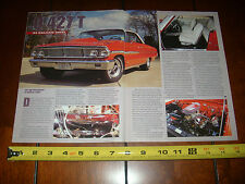 1964 FORD GALAXIE 500XL Q 427  - ORIGINAL 2003 ARTICLE