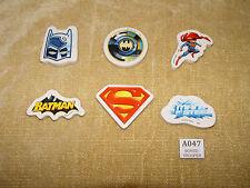 RACCOLTA di 6x SUPEREROI BATMAN SUPERMAN da collezione gomme per cancellare idea regalo di Natale