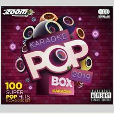 Karaoke CDG Discs - Zoom Pop Box Hits Of 2019, 100 Chart Hits 5 CD+G Disc Set