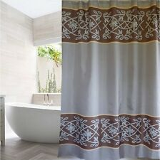Set Of 2 Stylish Floral Pattern Taupe Brown Shower Curtains FREE SHIPPING New