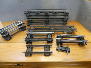 O gauge Hornby 2 Rail  straight track x 17 good condition.