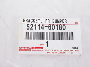 Genuine OEM Lexus 52114-60180 Front Bumper License Plate Bracket