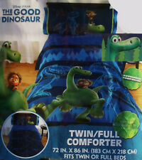 GOOD DINOSAUR BLUE TWIN SIZE COMFORTER SHEETS SHAM 5PC BEDDING SET NEW