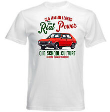 VINTAGE ITALIAN CAR FIAT RITMO REAL POWER - NEW COTTON T-SHIRT