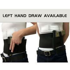Left&Right Belly Band Holster for Concealed Carry Gun Pistols Revolver Bodyguard