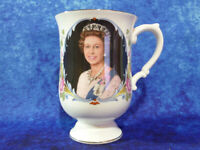 Crown Staffordshire Queen Elizabeth II SILVER JUBILEE MUG Commemorative Ware #2