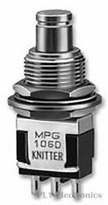 KNITTER-SWITCH    MPG 106 D    Pushbutton Switch, SPDT, On-On, 250 V, 30 V, 6 A,