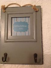 KIRKLAND'S HOME 4 X 4 INCH GRAY PICTURE FRAME WITH HOOKS NEW