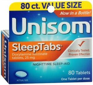Unisom NIghttime Sleep-Aid Tablets 80 Count ( Pack Of Two Bottles )