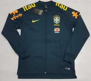 Brazil Training Jacket 2018/2019 Sweatshirt Nike Black Navy Nike Brasil